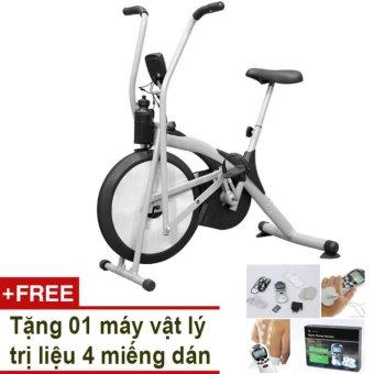 Xe đạp Air Bike (Xám) + Tặng vật lý trị liệu 4 miếng dán