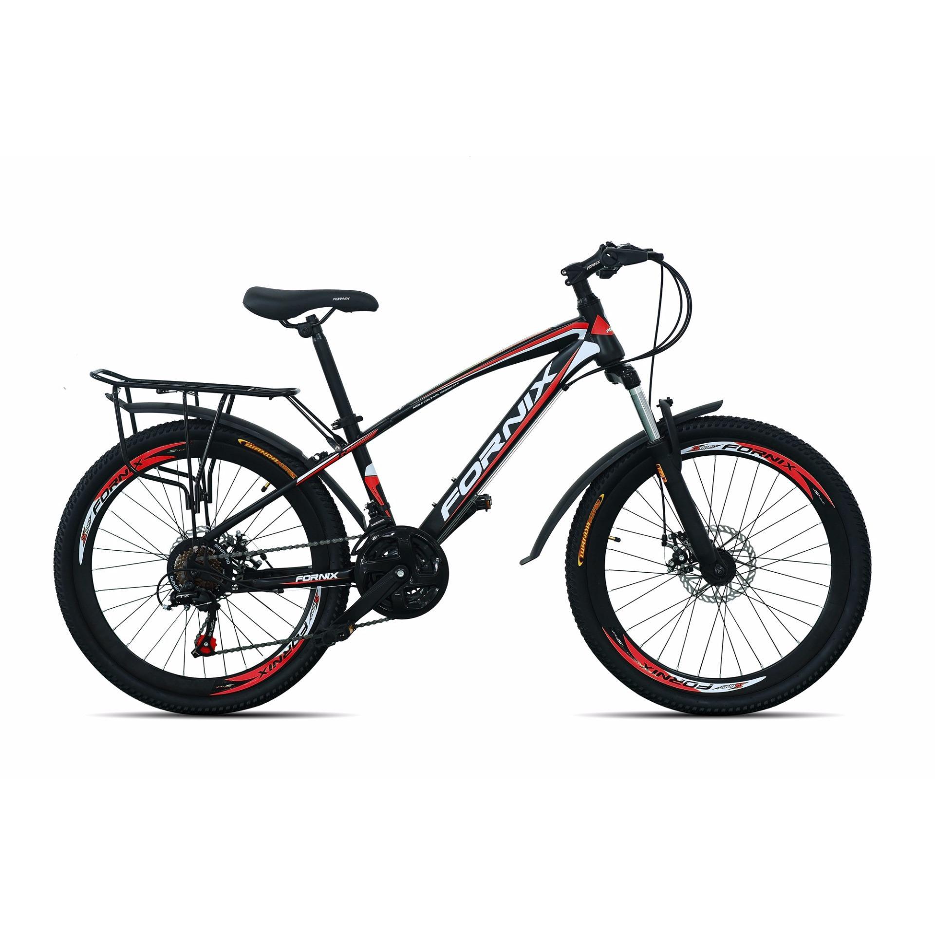 Xe đạp địa hình FORNIX - MS50 (Đen đỏ)