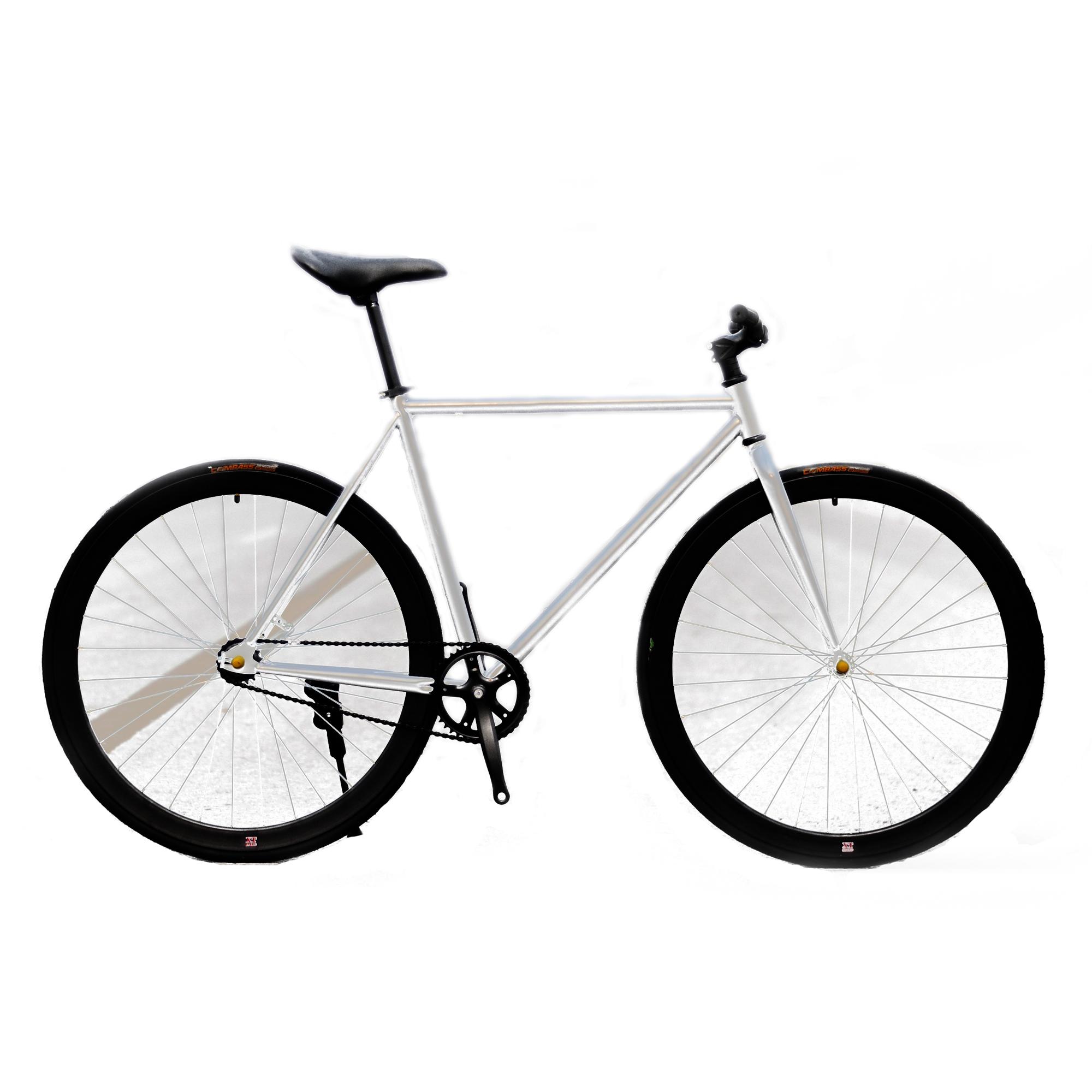 Xe đạp Fixed Gear Single Speed (Bạc Đen)