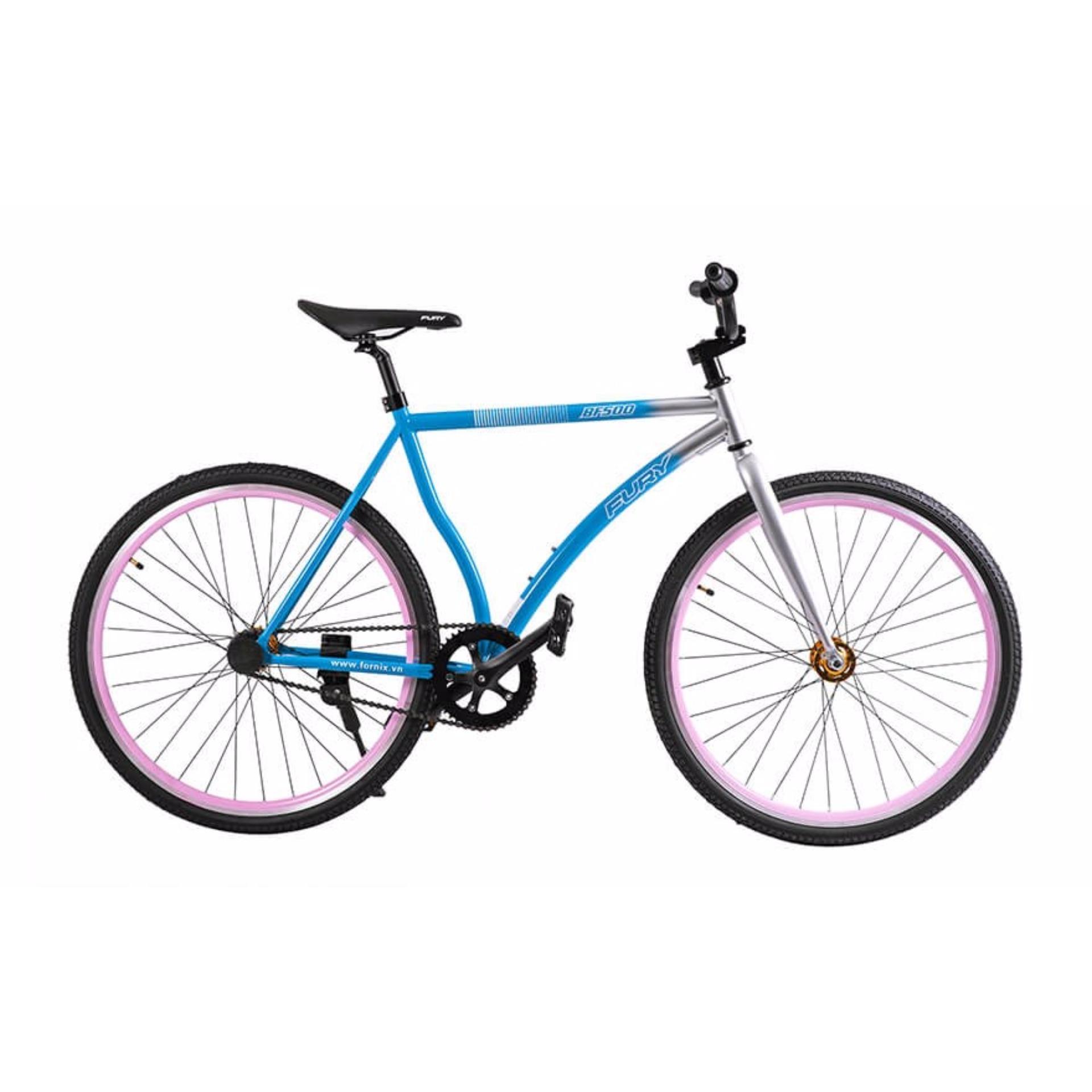 Xe đạp FixedGear, hiệu FURY, mã BF500 ( xanh )