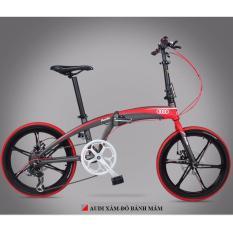 Xe đạp gấp Audi Navigate 5 Red- 8 Speed (Xám đỏ)