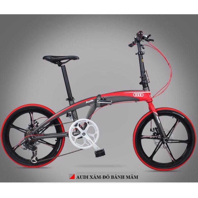 Phân phối Xe đạp gấp Audi Navigate 5 Red- 8 Speed (Xám đỏ)