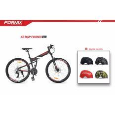 Xe đạp gấp địa hình thể thao Fornix F3 (Đen đỏ)+ tặng nón bảo hiểm