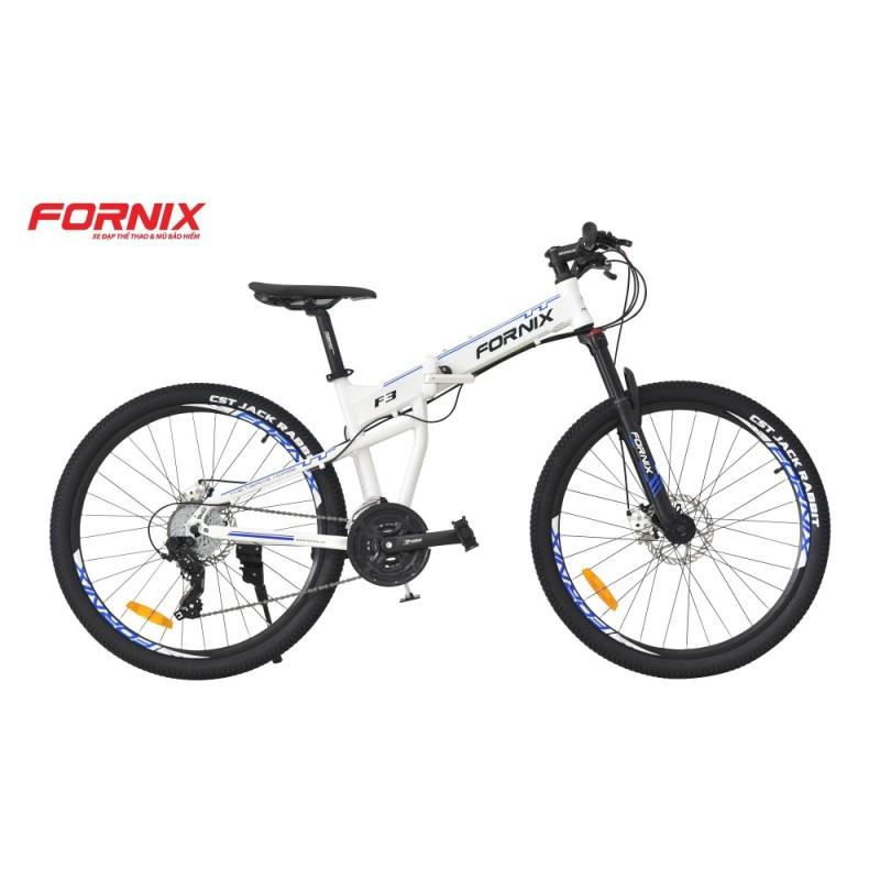 Mua Xe đạp gấp địa hình thể thao Fornix F3 (trắng xanh)