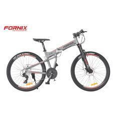 Xe đạp gấp địa hình thể thao Fornix F3 (xám đỏ)