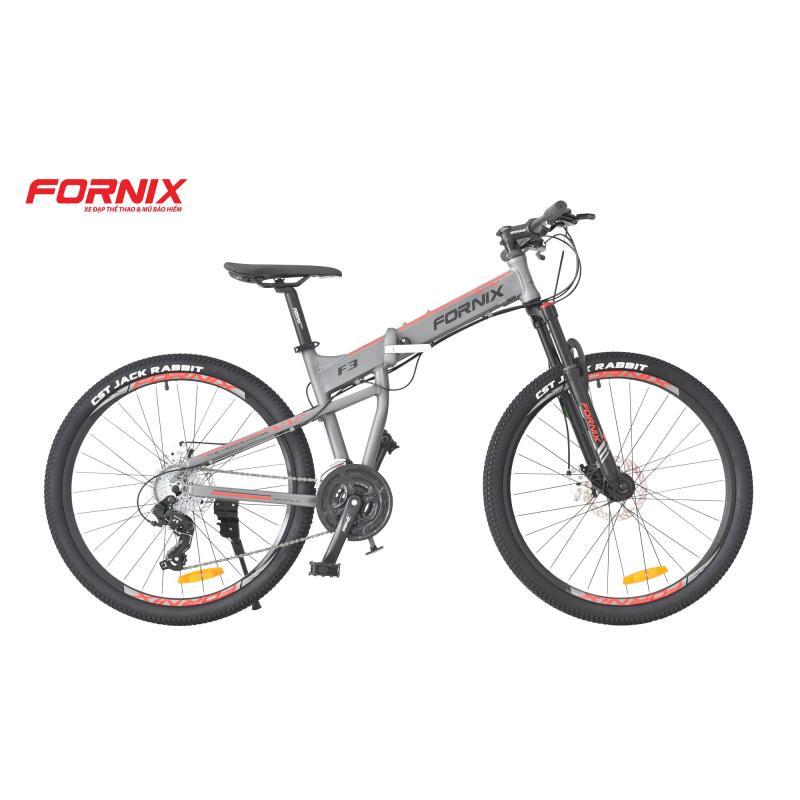 Phân phối Xe đạp gấp địa hình thể thao Fornix F3 (xám đỏ)