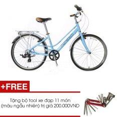Xe đạp GIANT MOMENTUM INEED 1500 (Xanh) + Tặng 1 bộ Tool xe đạp 11 món màu sắc ngẫu nhiên