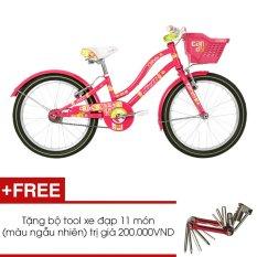 Xe đạp JETT CANDY 2014 (Hồng) + Tặng 1 bộ Tool xe đạp 11 món màu sắc ngẫu nhiên