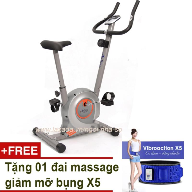 Bảng giá Xe đạp tập thể dục Air Bike AB-01 (Xám) + Tặng đai massage X5