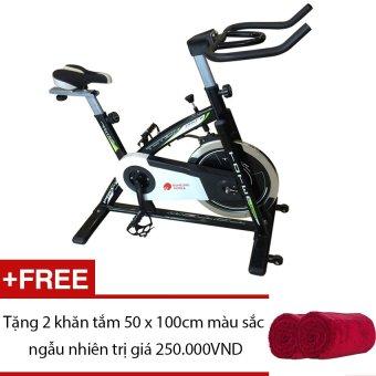 Xe đạp tập thể thao Buheung Korea MK-218 (Đen) + Tặng 2 khăn tắm 50 x 100cm màu sắc ngẫu nhiên