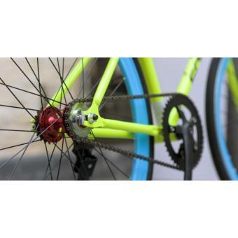 Xe đạp thể thao Fixgear, hiệu FORNIX-BF24 ( xanh dương )