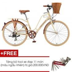 Xe đạp thể thao Giant Ineed Latte 2015 (kem) + Tặng 1 bộ Tool xe đạp 11 món màu sắc ngẫu nhiên
