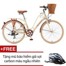 Xe đạp thể thao Giant Ineed Latte 2015 (Kem) + Tặng mũ bảo hiểm giả sợi carbon màu sắc ngẫu nhiên