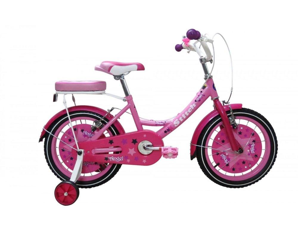 """Xe đạp trẻ em Stitch Family JK906 18"""" (Hồng)"""