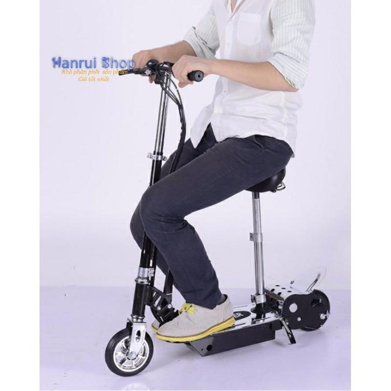 Giá bán Xe scooter điện E-Scooter 15km/h, tải trọng 80kg, 120w an toàn cho người sử dụng (Đen)