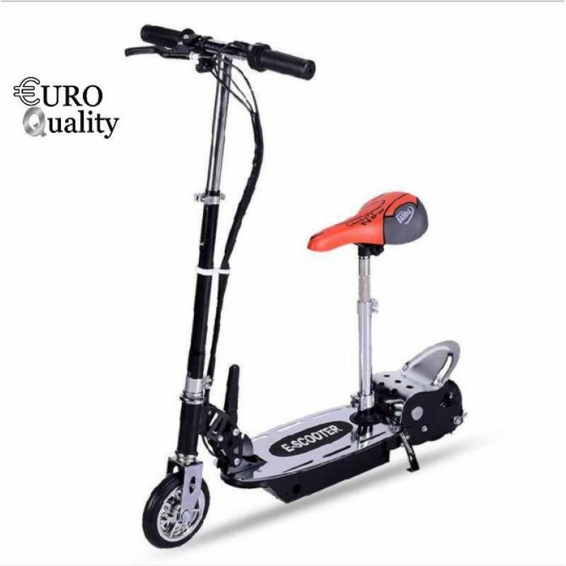 Phân phối Xe scooter điện E-Scooter 15km/h, tải trọng 80kg, 120w thiết kế chắc chắn (Đen)
