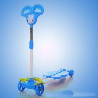 Xe trượt Scooter 4 bánh cho bé (Xanh dương)