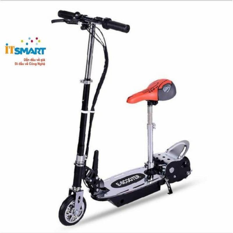 Mua Xe trượt scooter điện E-Scooter 15km/h, tải trọng 80kg, 120w phụ hợp mọi lứa tuổi (Đen)