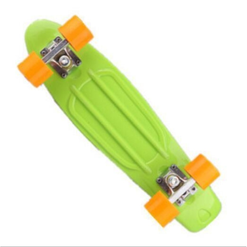 ZH22 inch fish plate are single - Four Wheel Scooter Skate Scooter(light green) - intl