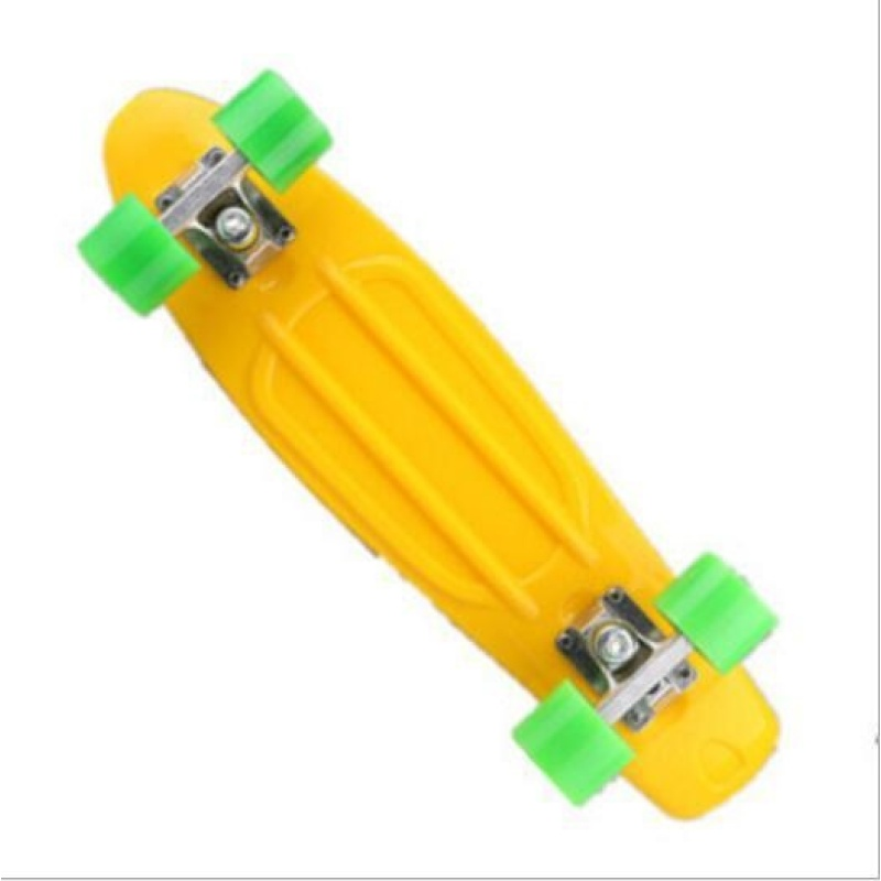 ZH22 inch fish plate are single - Four Wheel Scooter Skate Scooter(yellow) - intl