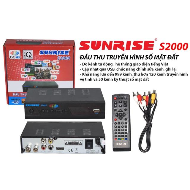 Đầu thu truyền hình số mặt đất Sunrise S2000 (Đen) (Ảnh 1)