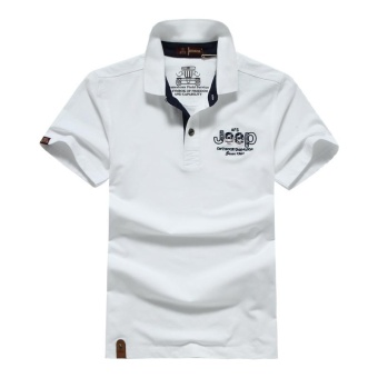AFS Jeep summer men's lapel cotton casual short-sleevedT-shirt(White) - intl