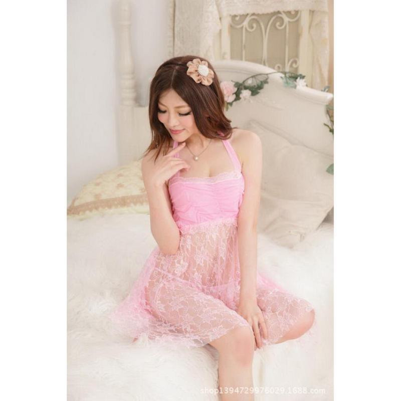 Nơi bán Áo đầm ngủ Sexy ren nhún ngực CDAN05  Rainstore (hồng)