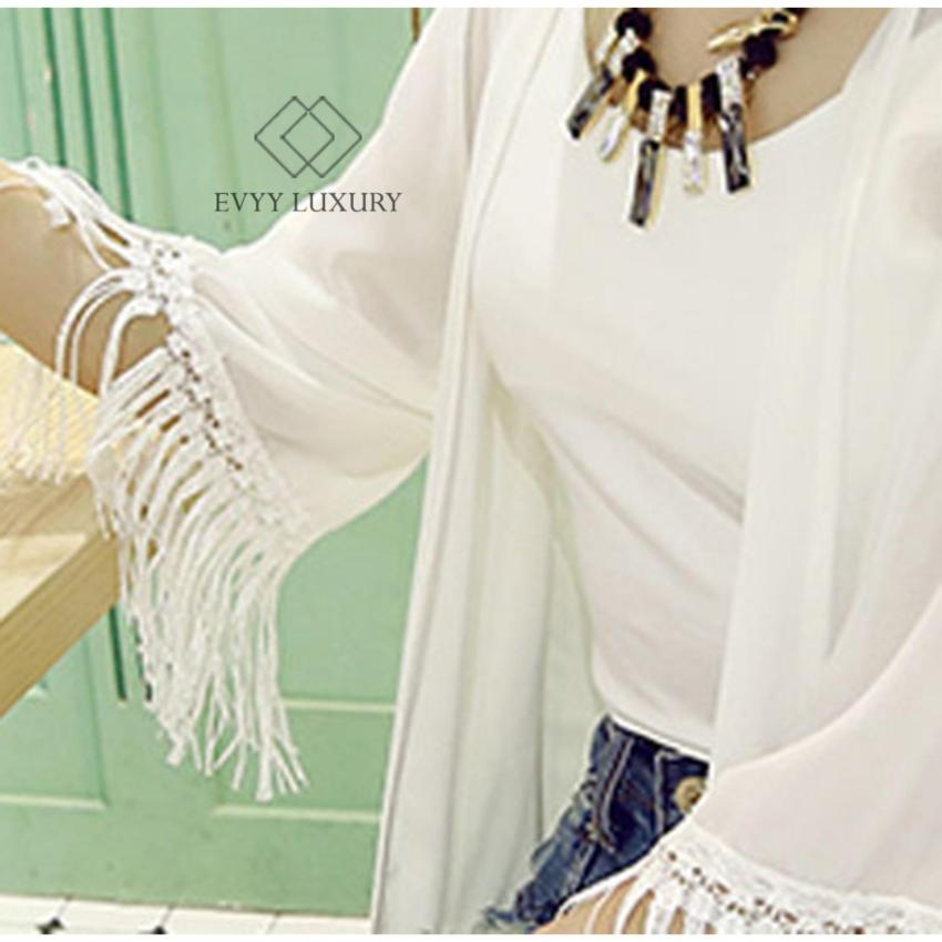Áo khoác nữ, áo khoác cardigan nữ đẹp, áo khoác kimono nữ dễ thương, áo khoác cardigan kimono Bohemian trắng...