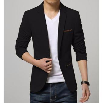 Áo khoác vest nam phối túi kiểu LB FASHION ( đen )