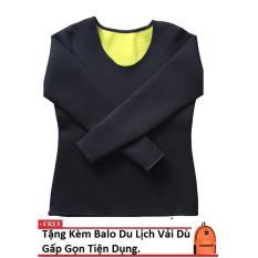 Áo sinh nhiệt Định hình vóc dáng, Giảm mỡ cho nữ Hot Shapers (Đen) Làm Đẹp size L + Tặng Kèm Balo Du Lịch Gấp Gọn