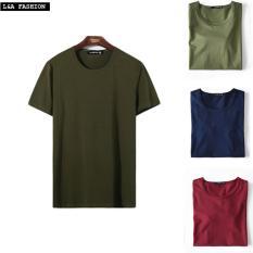 Địa Chỉ Bán Bộ 3 áo thun nam trơn co giãn cổ tròn ZAVANS ( Xanh Rêu , Xanh Đen , Đỏ ),  ZAVANS