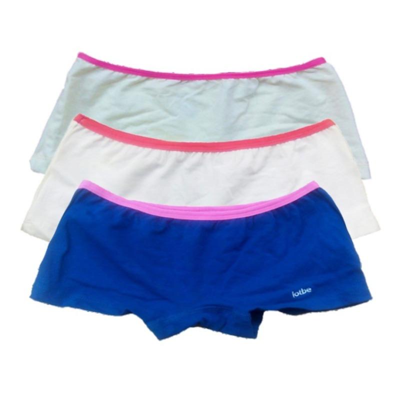Nơi bán Bộ 3 quần lót đùi bé gái Cotton 100% thun kẹp lotbe