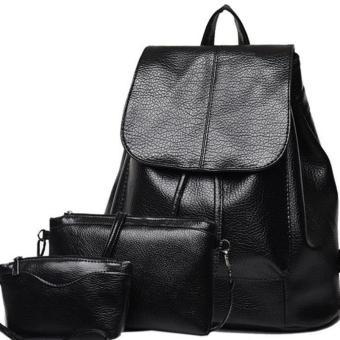 Bộ 3 ví da nữ , túi đeo chéo và ba lô da thời trang SET089  tiết kiệm