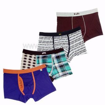 Bộ 4 quần lót nam BOXER Hàn Quốc MS02