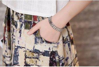 Bộ chân váy và áo thời trang xuân hè (Trắng) - 5