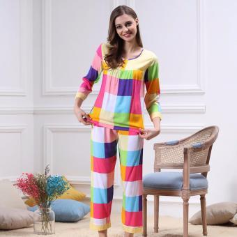 Bộ đồ mặc nhà phối nhiều màu xinh xắn ZOZO Yaoting BD 6310 - 5
