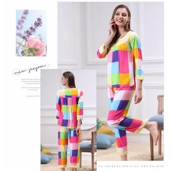 Bộ đồ mặc nhà phối nhiều màu xinh xắn ZOZO Yaoting BD 6310 - 2