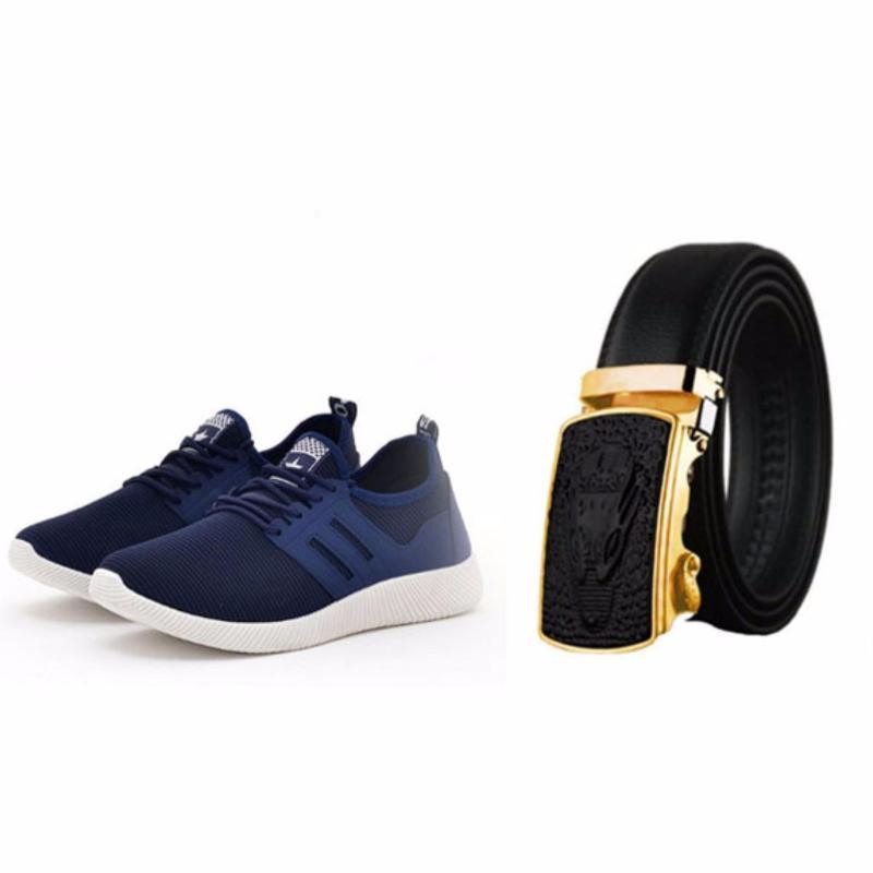 BỘ Đôi Thắt Lưng Da mặt  Cá Sấu - Giay Sneaker thể thao