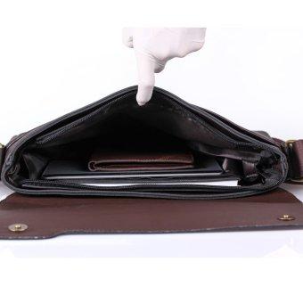 Bộ đôi túi đeo chéo nam thời trang + ví nam Da bò TV001N (Nâu)