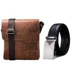 Giá Bộ túi đeo chéo và thắt lưng da thời trang nam ZAVANS (Vàng da bò)  ZAVANS
