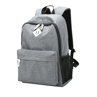 Canvas School Bag Backpack(Gray) - intl