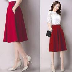 Chân Váy Xòe Nana Cách Điệu Lưng S / Đỏ