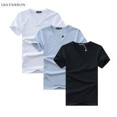 Giá Khuyến Mại Combo 3 áo thun nam cổ tim mềm mịn, thấm hút tốt ZAVANS(Đen/Trắng/Xám)  ZAVANS