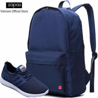 Combo Balo Cylinder Laptop BLL002BU + Giày Sneaker GS068BU (Xanh) - CB022