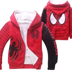 So Sánh Giá Costume Kids Boys Girls Winter Thick Zipper Hoodies Coat Jacket 4Y-9Y – intl   2015 great future