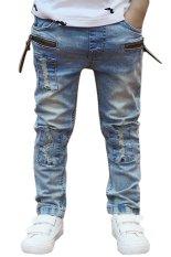 Giá Cyber Kids Children Boys Elastic Waist Jeans Denim Pants (Blue)  Happydeal365