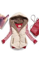 Đánh giá Cyber Women Plus Size Slim Jacket Hoodie Vest Coat Waistcoat (Beige) – intl Tại Happydeal365