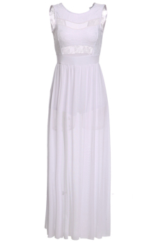 Cyber Women Summer Long Maxi Dress Party High Slipt Clothing(White) - Intl