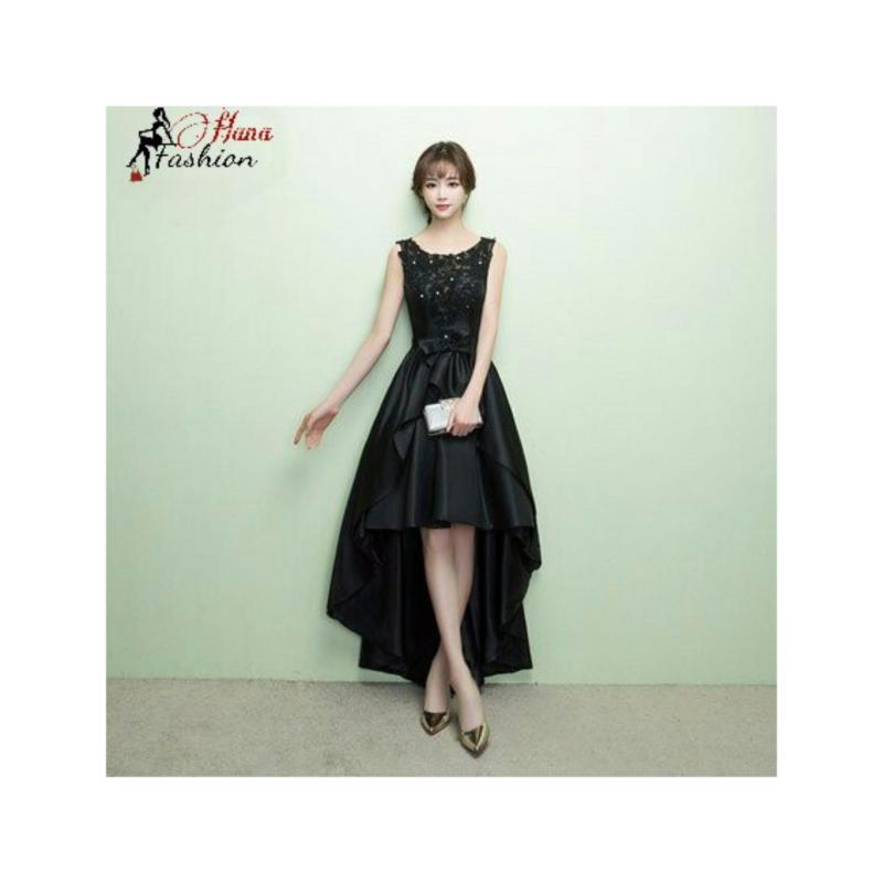 Nơi bán Đầm Dạ Hội Xòe Đuôi Tôm Đính Đá Sang Trọng Hana Fashion (đen)