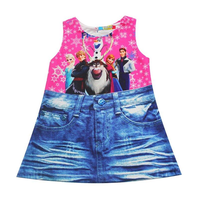 Giá bán Đầm Frozen bé gái 2-9 tuổi Tri Lan DBG057 (Hồng xanh)